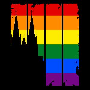Köln Kölner Dom LGBT Regenbogen Geschenk