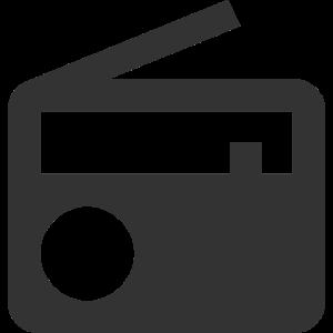Radio | Symbol | Schwarz | Geschenkidee