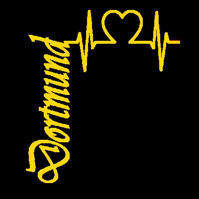 Dortmund Herzschlag -  - Verein,Stadt,Herzschlag,Geschenkidee,Geschenk,Fussball,Dortmund,Bundesliga