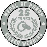 MEDAL OF HONOR 25th SILVER WEDDING 3C
