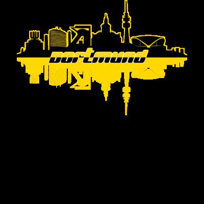 Dortmund skyline - Dortmund Skyline schwarz gelb - Geschenkidee,Bundesliga,Dortmund,Fussball,schwarz gelb,Verein,Geschenk,Skyline
