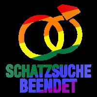 Schatzsuche beendet Schwul LGBT Abschied