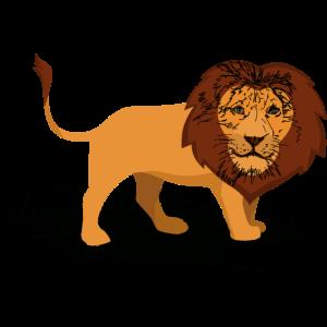 Löwe handgezeichnet