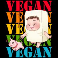 Chibi Tofu Costume with piggy