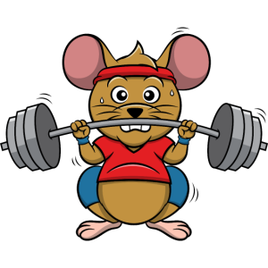 Gewichtheber Maus | Langhantel