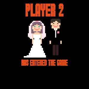 Spieler 2 hat das Spiel Wedding Video Games betreten