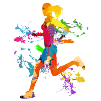 Running Woman, Sport, Idee, Geschenk, Cool