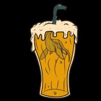 Bier Glas Nessie Ungeheuer Monster Loch Ness Party