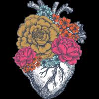 Blumen Herz | Natur Dekoration Blätter Geschenk
