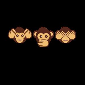 Drei Affen - einer blind, einer taub, einer stumm