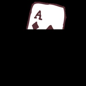 Karo Ass Karte Geschenk