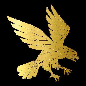 Adler der sich im Sturzflug befindet! Gold Edition
