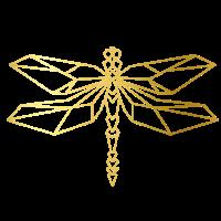 Cooles goldene Libellen Design!