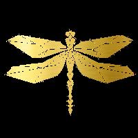 Cooles goldenes Libellen Design!