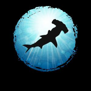 XASTY Hammerhead Shark Hammerhai Hai Tauchen Shirt