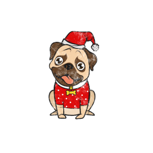 mops shirt geschenk idee Hund Weihnachten