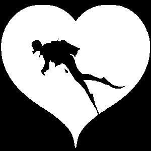 Taucher Herz Herz Tauchsport