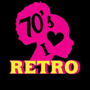 I LOVE 70th RETRO neon style