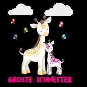 Giraffe Große Schwester Grosse Schwester Sister