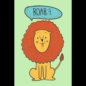 Löwe Tier Illustration Comic Kinderzimmer Kinder