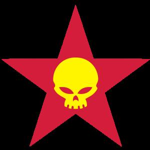 skull star vector