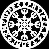 Vintage Helm der Ehrfurcht Awe Viking Symbol Runen