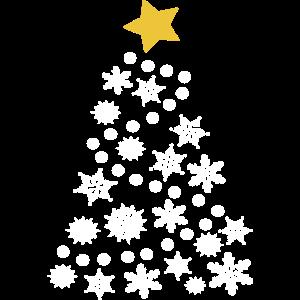 Weihnachtsbaum Weihnachtsstern Schneeflocken Weiss