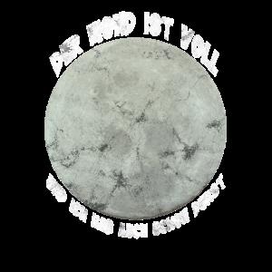 Lustiges Mond Party Wochende Saufen Shirt
