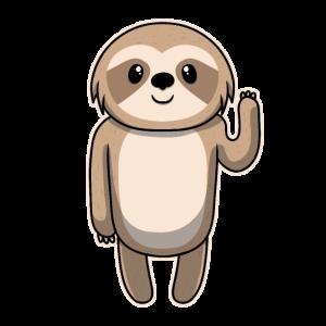 Süßes Tier Baby Faultier Sloth