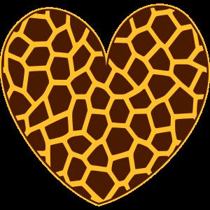 Herz Giraffe Giraffenmuster Giraffen Muster