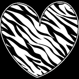 Zebra Muster Animal Print Herz