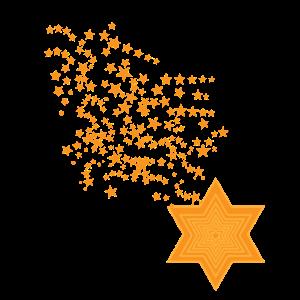 Origami Sterne Sternschnuppe Schweif glitzer