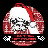 Weihnachten Hund Mops Pulli Hässlich
