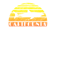 Kalifornien-großer weißer Haifisch-Retro Weinlese-Sonnenuntergang