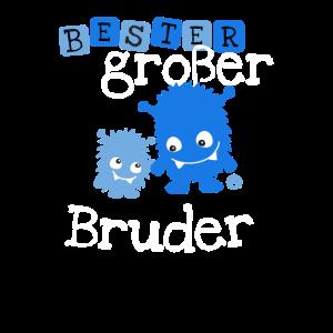 Bester Großer Bruder Monster Geschwister Familie
