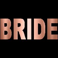 Bride kupfer Braut Hochzeit rose gold JGA