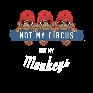 Not my circus not my monkeys. Drei Affen