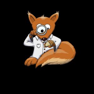 Forscher Doc Eichhörnchen Lupe Eichel Süß Geschenk