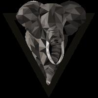 Elefant Dreieck Style