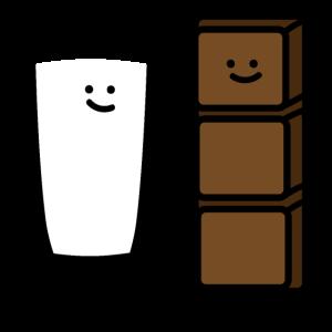 Milch und Schokolade