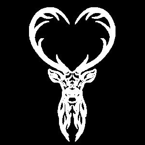 Hirsch der Herzen Weiß