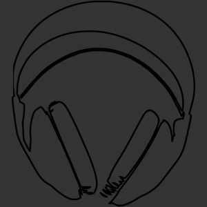 Casque podradio filigranne vectorisé