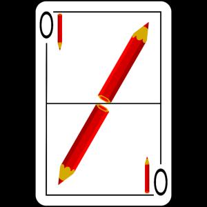 Ober Stift Spielkarte 1 rot
