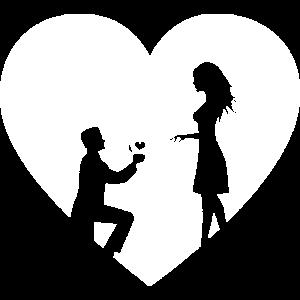 Herz Heiraten Heiratsantrag Verlobung weiß