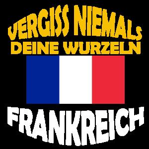 Flagge Wurzeln Frankreich