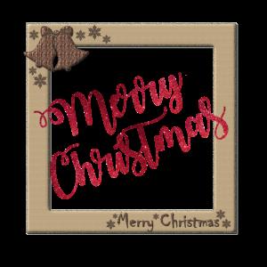MerryChristmas im Rahmen Geschenk Idee