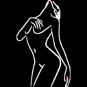 Damen Silhouette weiss