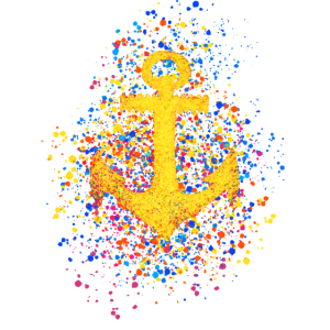 Anker Symbol Farbspritzer Farbkleckse Spritzer
