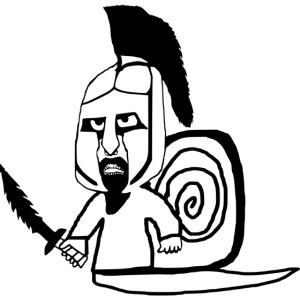 Spartaner Schnecke Schwert
