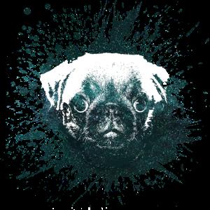 Hund Mops Hunde Haustier Geschenkidee Love liebe2